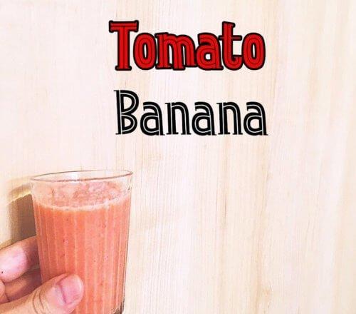 赤色のファイトケミカル、リコピンが含まれるトマトのスムージー