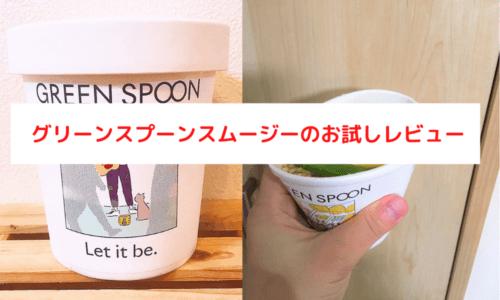 グリーンスプーンスムージーとスープのお試しレビュー【値段は高い?】