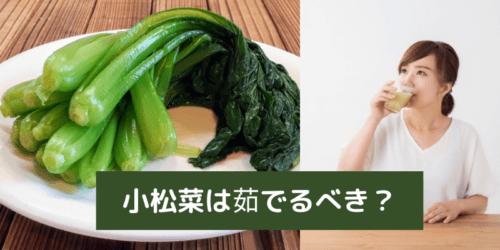 スムージーに使う小松菜は茹でるべき?【茹でずにスムージーにしよう】